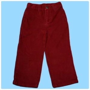 Gymboree - Red Corduroy Boys Pants Size 3T